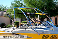 Big Air Bimini Maxum Boat Vapor Wakeboard Tower