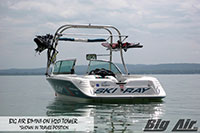 Big Air Bimini Skiray Boat H2O Wakeboard Tower