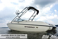 Big Air Collapsible Bimini 1996 Stingray 586Zp Boat Cuda Wakeboard Tower Collapsed