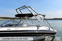 Big Air Collapsible Bimini Four Winns Boat Cuda Wakeboard Tower