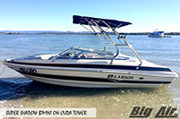 Big Air Super Shadow Bimini 2006 Larson Lxi 208 Boat Cuda Wakeboard Tower