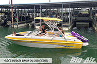 Big Air Super Shadow Bimini 2011 Glastron 205 Boat Cuda Wakeboard Tower