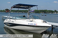 Big Air Super Shadow Bimini Rinker Boat Wave Wakeboard Tower