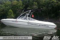 Big Air Super Shadow Bimini Stingray Boat Ice Wakeboard Tower