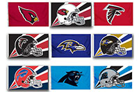 2018 Nfl 2 Sided Flags 1
