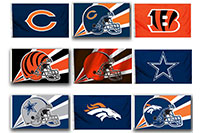 2018 Nfl 2 Sided Flags 2