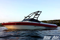 Big Air Cuda Wakeboard Tower 1990 Malibu Euro F3 Reverse Mouted