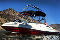 Big Air Haus Wakeboard Tower 2005 Searay 220 Sundeck