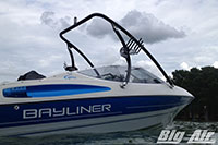 Bayliner Capri Boat With Black Big Air Ice Wakeboard Tower