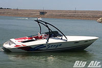 Larson Senza Boat With Big Air Ice Wakeboard Tower