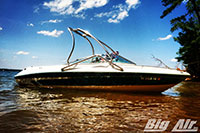 Boat With Big Air Vapor Wakeboard Tower