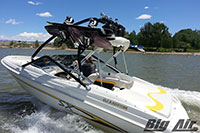 Glastron Boat With Black Big Air Vapor Wakeboard Tower