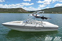 Stingray Boat With Big Air Vapor Wakeboard Tower